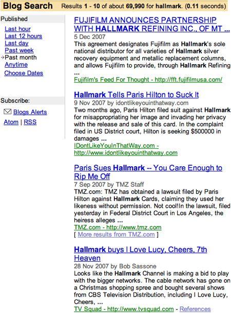 Hallmark Blog Search Results