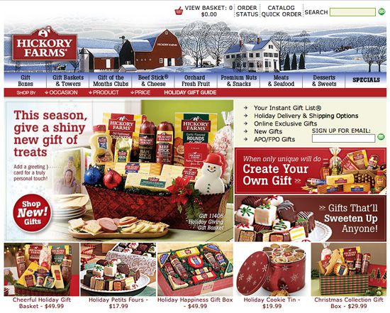 Hickory Farms Home Page