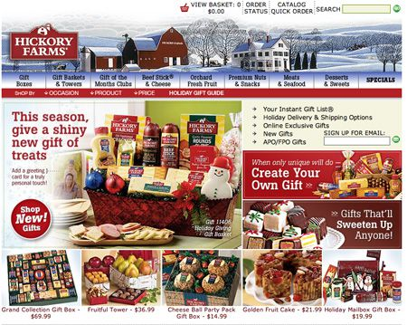 Hickory Farms Xmas Design