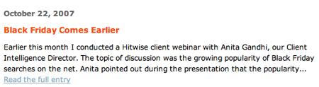 Hitwise Blog Screenshot