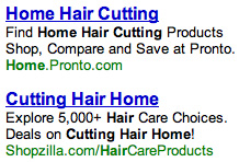 Home Hair Cutting ads