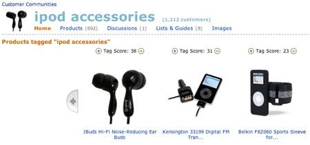 Amazon iPod Accessories Tag