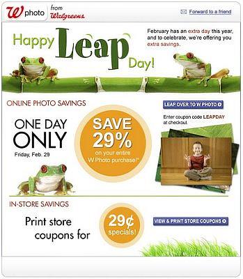 Leap Year - Walgreen's
