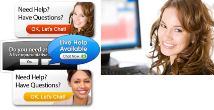 live chat avatars from stock photos