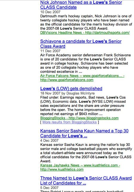 Lowe's Blog Search Results