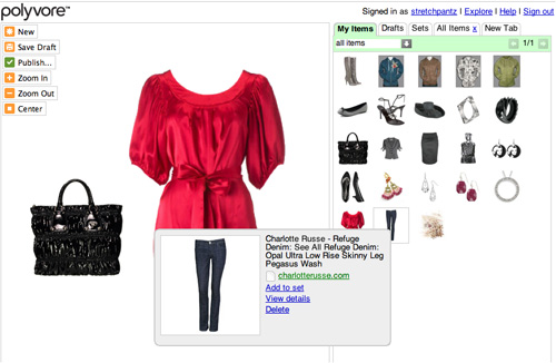 Creating in Polyvore