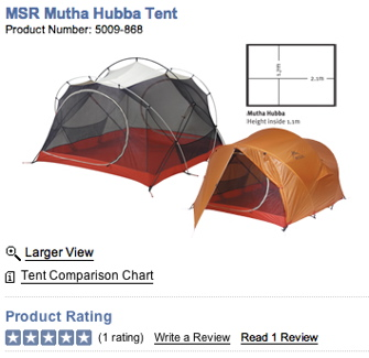 MEC Tent with Review