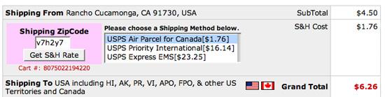 Monoprice shipping calculator