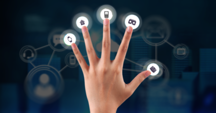 multi-touchpoint commerce hand icons