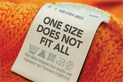 One size does not fit all