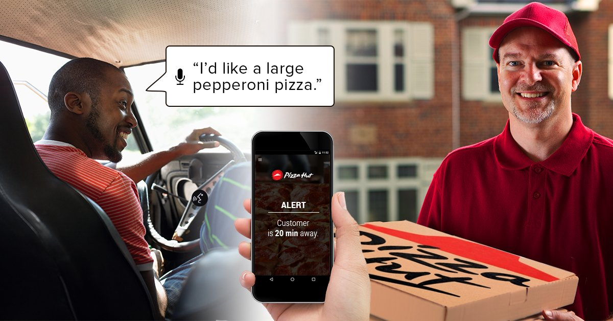 pizza hut delivery system