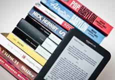 Amazon Kindle with print books