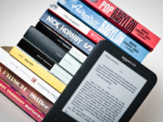 Amazon Kindle with print books