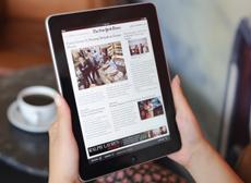 Reading news on an iPad
