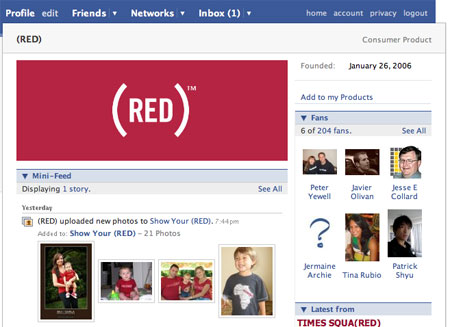 (RED) Page Screenshot