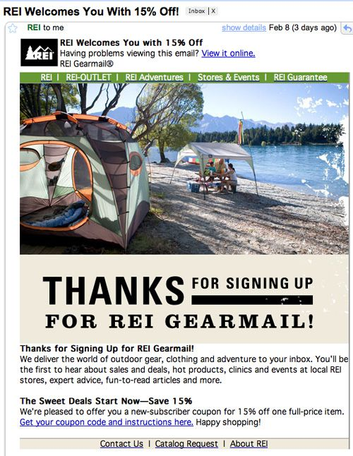 REI Email Images On