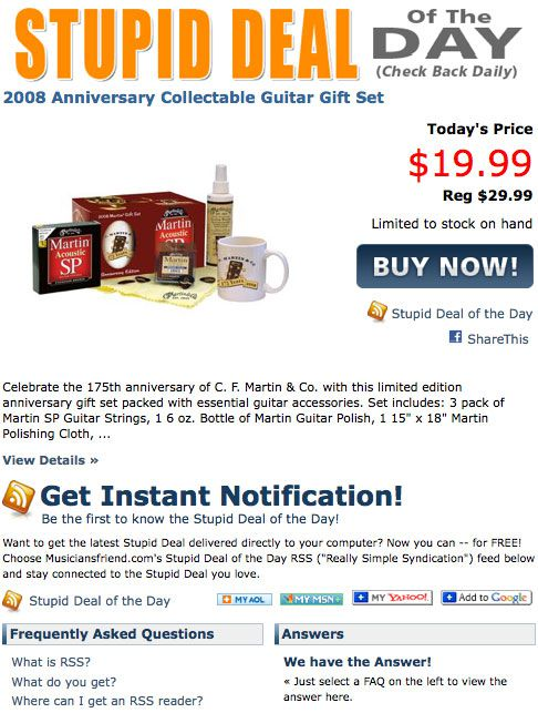 Musician's Friend Coupons & Promo Codes. Promo Code 17 used today Don't pass up this superb valentine's day deal. buy today and use this Musician's Friend at checkout to save. 8% off qualifying orders $89+ and free shipping. $ max discount. Stupid Deal of the Day at Musician's Friend. Great deals for the music lover.