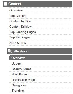 Site Search Menu
