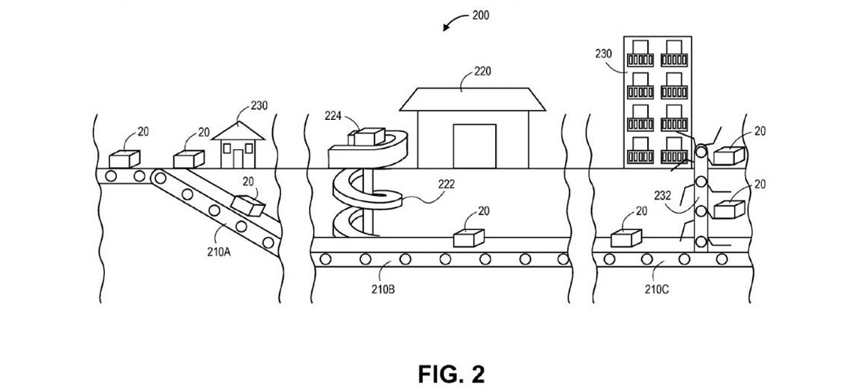 subterranean delivery network amazon patent