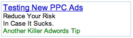 Testing New PPC Ads