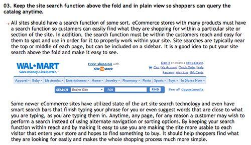 Ecommerce Best Practice Article Screenshot
