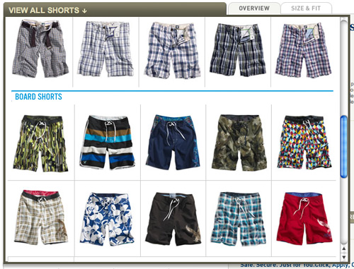 AE view all shorts