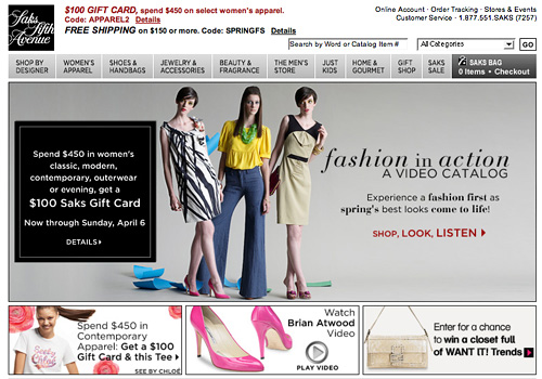 Video Merchandising With Virtual Catalogs