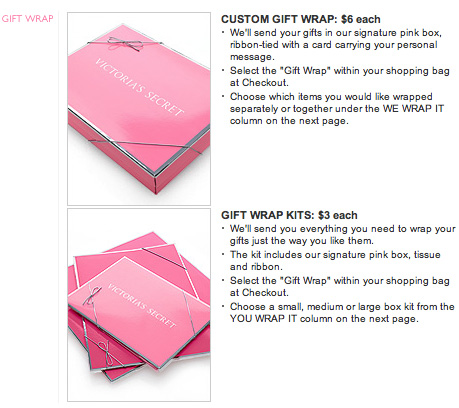 Giving gift givers more options victorias secret gift boxes negle Images