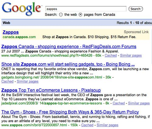 Zappos Search Results - Canada