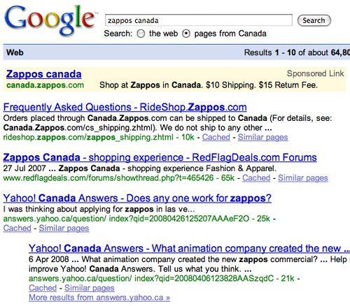Zappos Search Results - Canada