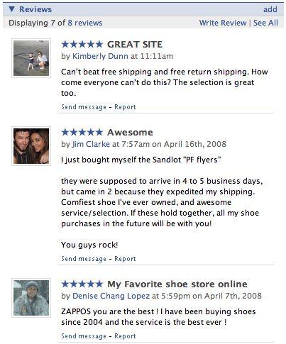 Zappos Facebook Review