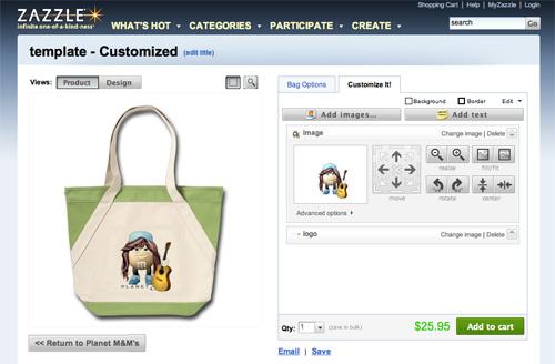 Zazzle M&M Bag