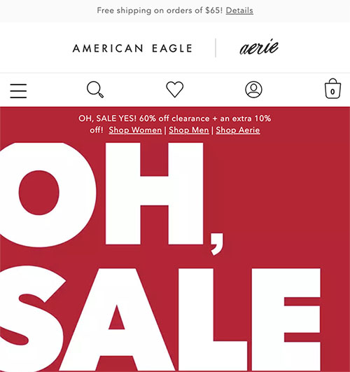 American Eagle Outfitters chatbot