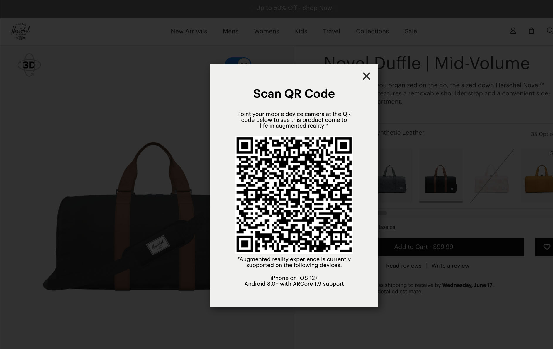 How Herschel uses AR on product pages with headless commerce (and so can you)