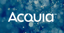 Acquia logo. Top ecommerce platforms add commerce capabiity to Drupal.