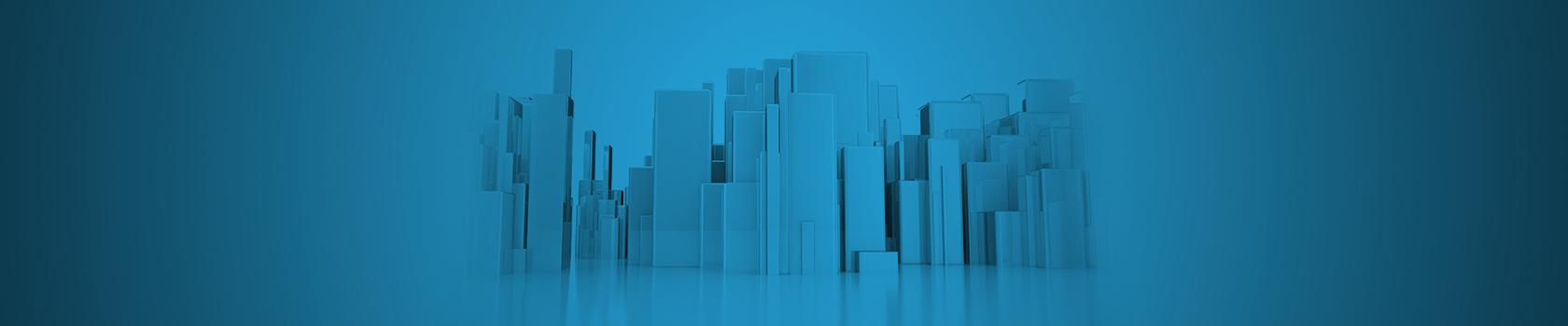 abstract 3d elements blue background