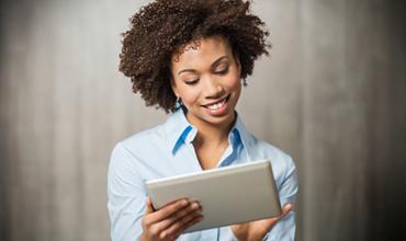 Customer enjoying a great digital experience