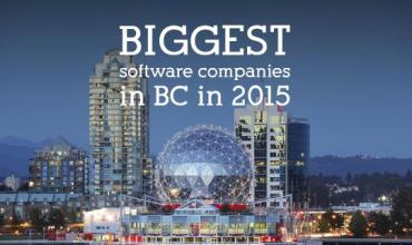 Biggest software companies in BC in 2015
