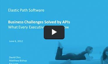 Business solved by APIs ecommerce webinar