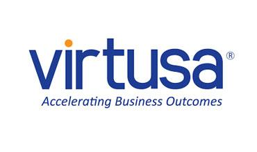 Virtusa logo - Accelerating business outcomes